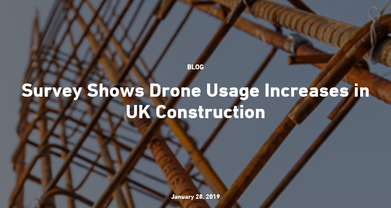 Survey Shows Drone Usage Increases in UK Construction