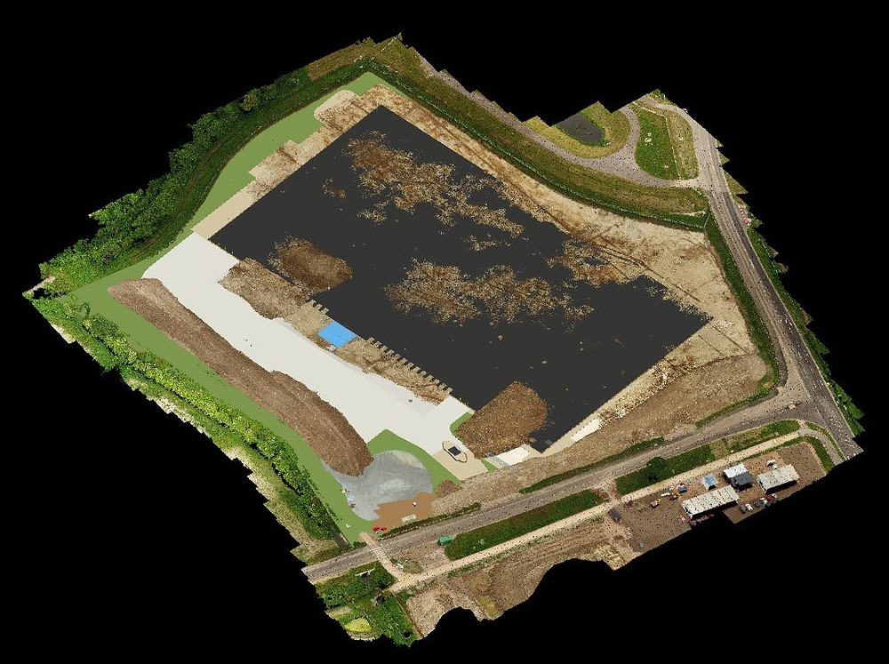 Using drone technology during the construction of a BIM project