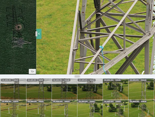 Power grid inspection using drone technology and artificial intelligence (AI) for fault detection