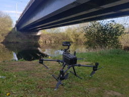 Detailed visual inspection of a bridge using drone technology