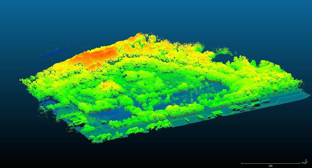 Aerial LiDAR drone survey of disused port