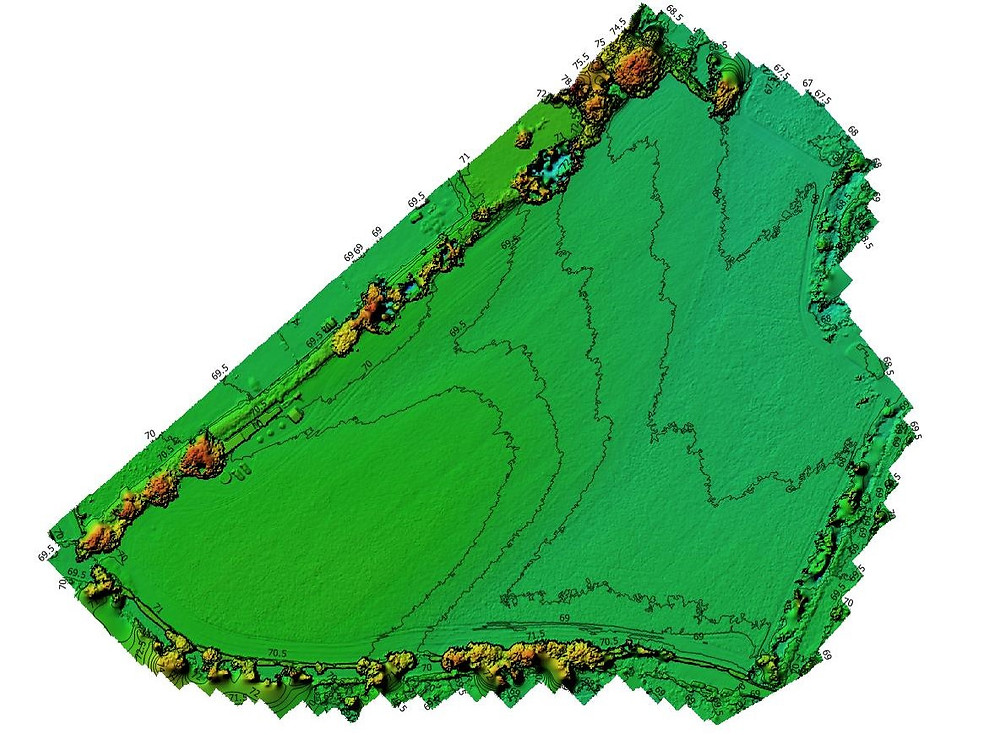digital surface model (DSM) and contour lines
