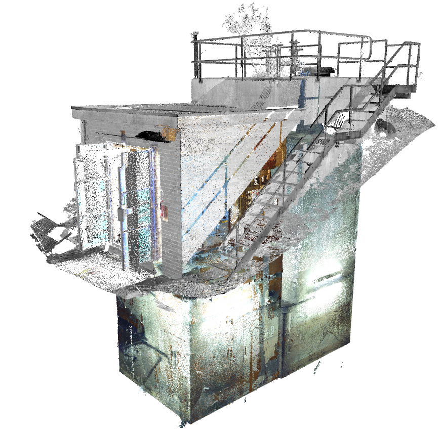 Confined space 3D laser scanning of MEP services