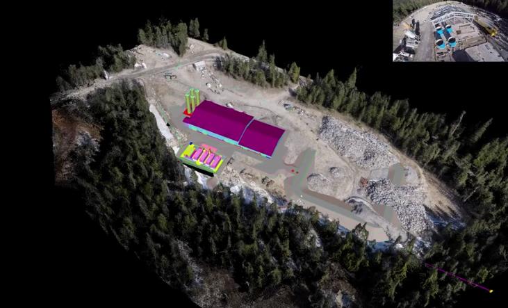 drone 3d model with bim overlay