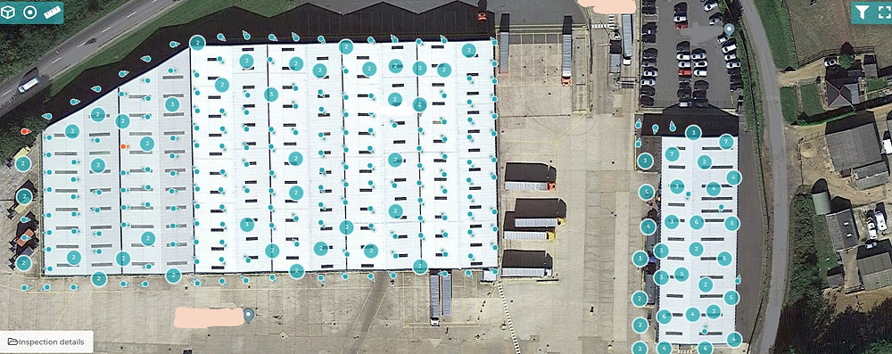 Asset surveyed for schedule of conditions using drone technology and analysis software