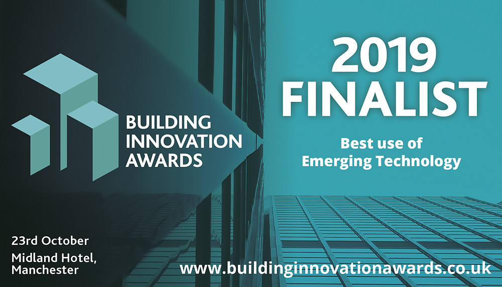 "ProDroneWorx shortlisted in the ""Best Use of Emerging Technology"" category at the Building Innovation Awards 2019 for drone surveying"