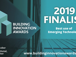 "ProDroneWorx shortlisted in the ""Best Use of Emerging Technology"" category at the Building Innovatio"