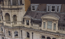 2D and 3D models produced on London drone survey building facade