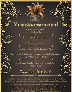 Feestzaal Saksenboom - Valentijnsmenu-Venetiaanse avond 2016