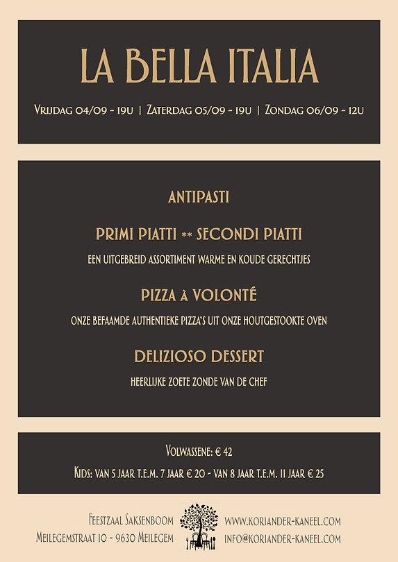Feestzaal Saksenboom | Italiaans weekend | 04/05/06 september