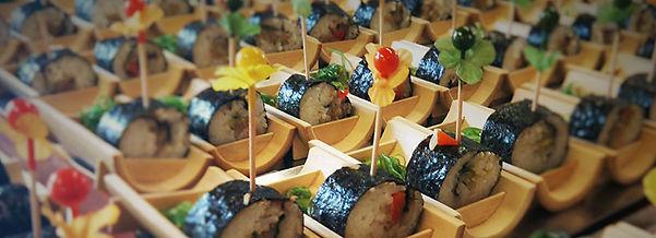 Feestzaal Saksenboom - Homemade sushi