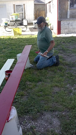 Painting the Trim Boards