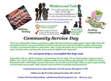 Community Service Day September 9th