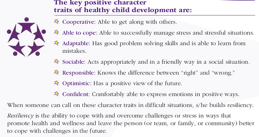 traits of healthy child dev -high five.p