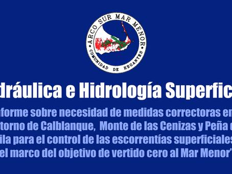 Control de Escorrentías Superficiales y Vertido Cero en el Arco Sur del Mar Menor