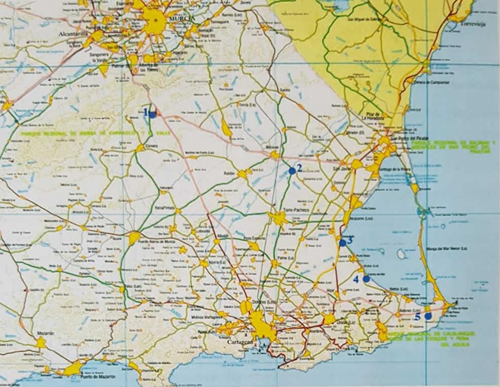 Recorrido Hidrogeológico por el Campo de Cartagena – Mar Menor