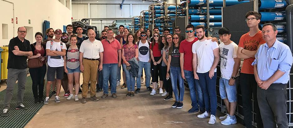 Alumnos de Ingeniería de la UPCT visitan las instalaciones de la CR Arco Sur