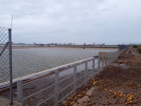 Excelente comportamiento de los Embalses de Pluviales del Arco Sur Mar Menor
