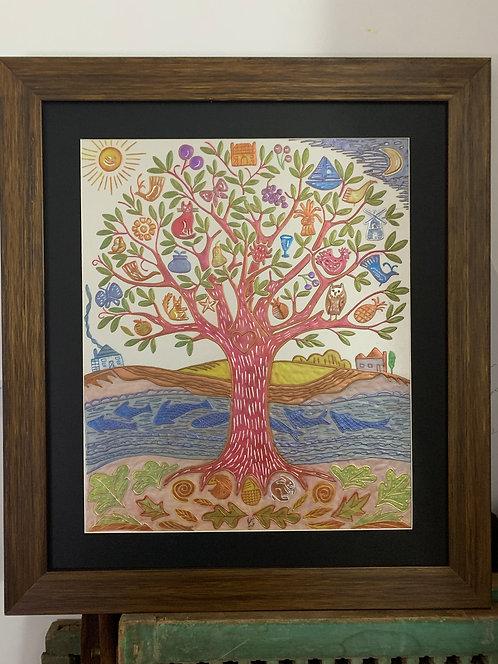 Fayyaz, traditional Roghan Art