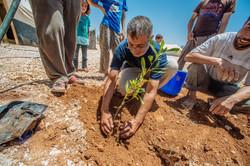 Harrari planting the first tree