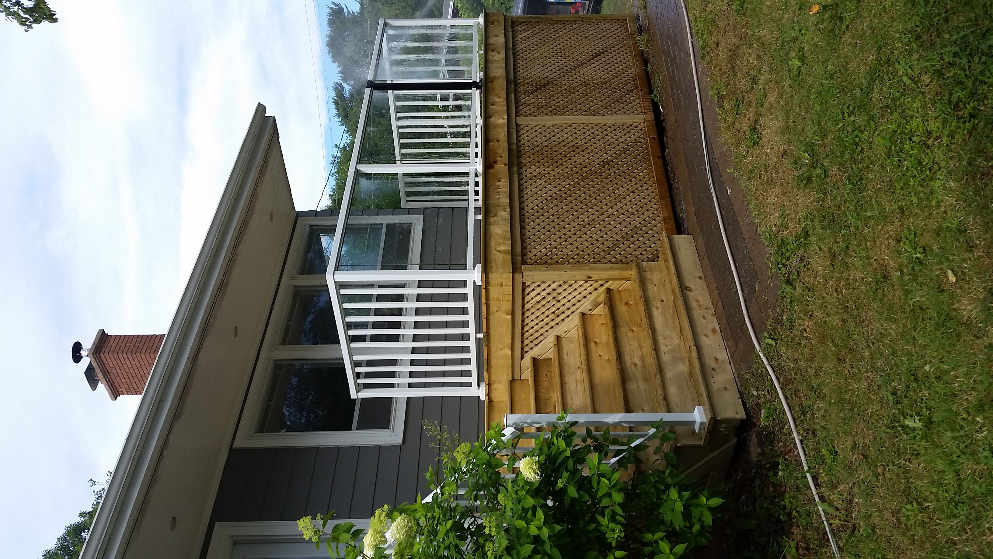 PT Deck with Metal Rail