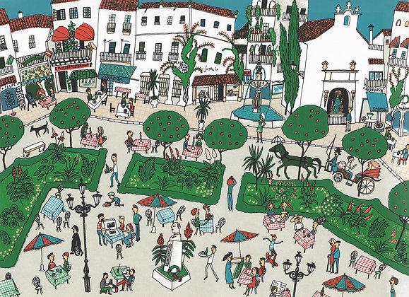 Plaza de los Naranjos, 1986