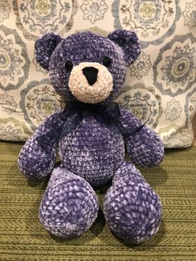Velvet Purple Bear