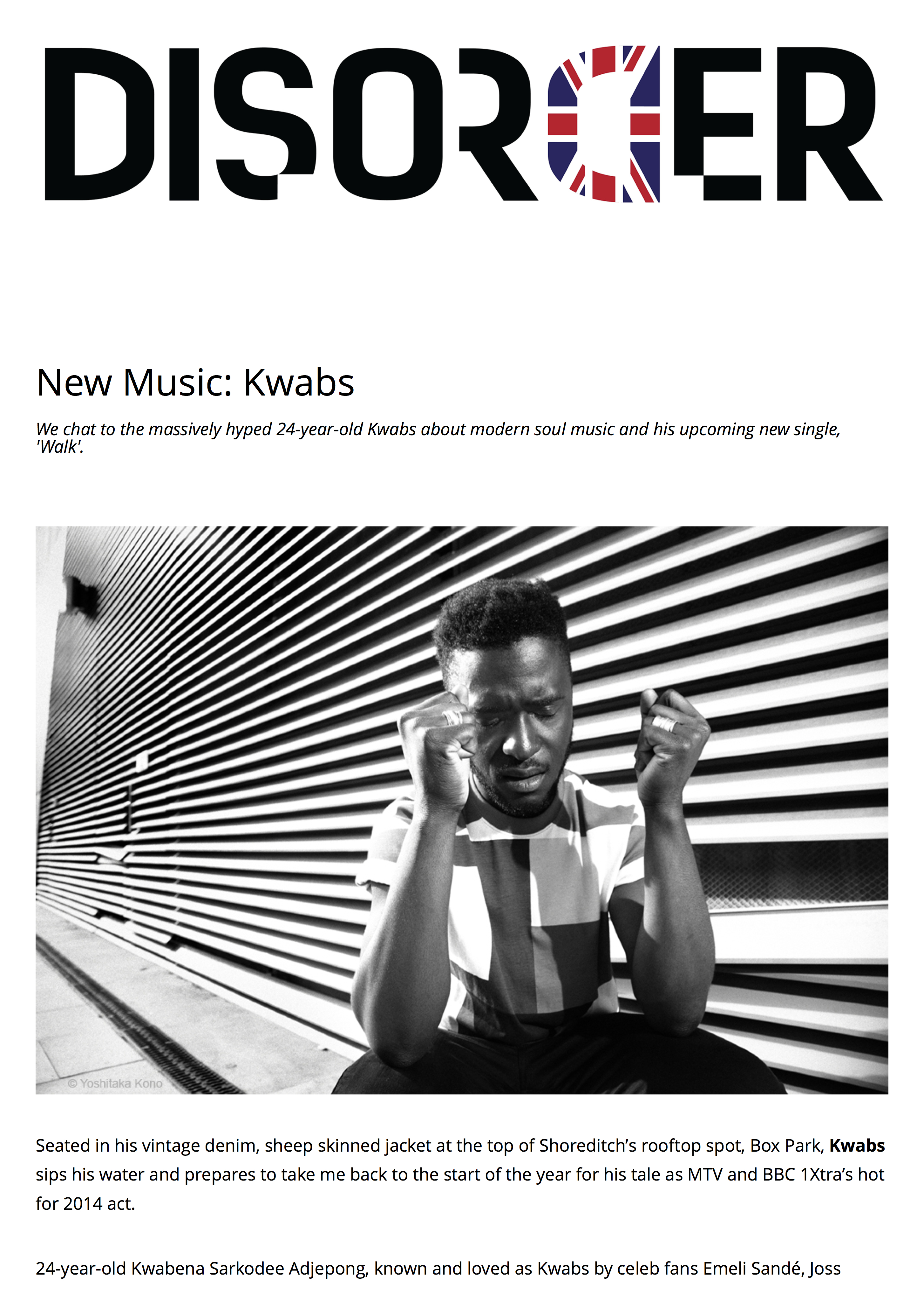 KWABS for DISORDER Magazine