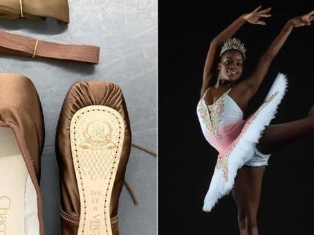 Bailarina brasileira comemora ter finalmente conseguido sapatilhas com seu tom de pele