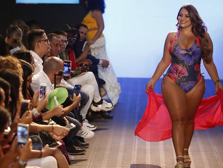 Modelos plus size cativaram Colombiamoda com suas curvas