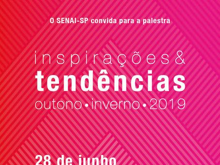 SENAI MIX DESIGN: convite para palestra sobre inspirações e tendências para Outono-Inverno 2019