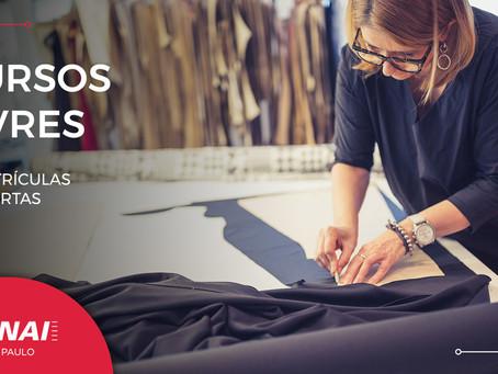 SENAI-SP abre inscrições para 35 cursos livres nas áreas Têxtil e Vestuário