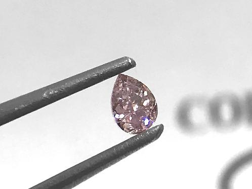 Fancy Purplish Pink 0,09ct Pear shape