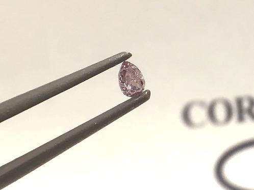Fancy Light  Greyish Pink 0,07ct Pear shape