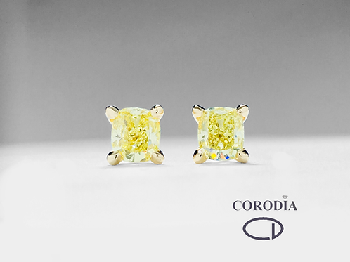 Pendientes 0,83 ct Fancy Intense Yellow GIA