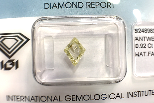 "Diamante Talla ""cometa"" ""Kite"" Fancy Light Yellow 0,92 ct"