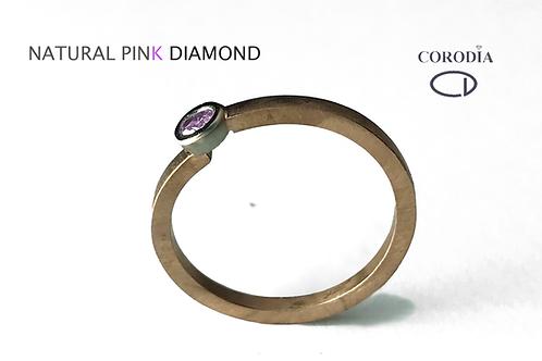 Fancy pink diamond 0,07 ct