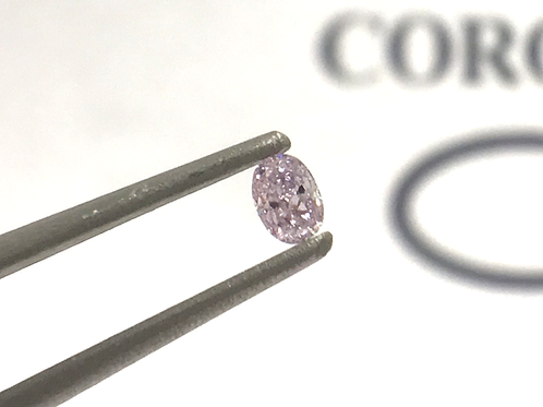 Fancy Light Pink 0,08 ct  oval