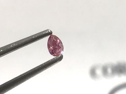 Fancy Intense pink 0,06ct Pear shape