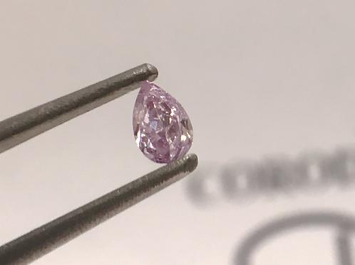 Fancy Light Purplish Pink 0,09ct Pear shape