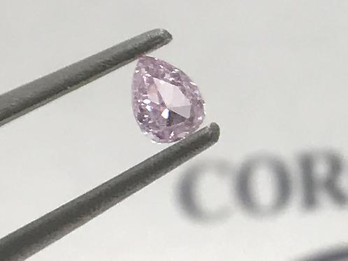 Fancy Light Pink 0,10ct Pear shape