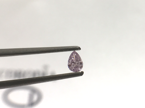 Fancy Light Pink 0,09 Pear Shape diamond