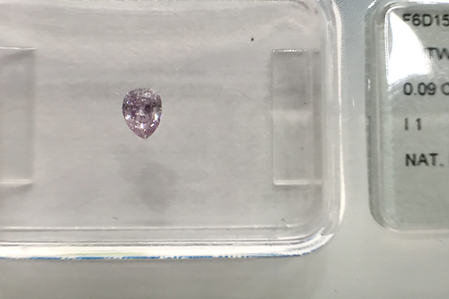 Fancy Intense Pinkish Purple 0,09ct Pear Shape