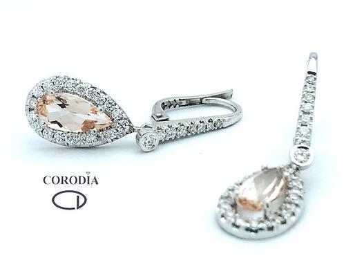Pendientes Diamantes y Morganita