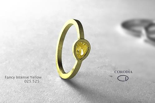 FancyIntense Yellow 0,25 ct Pear shape