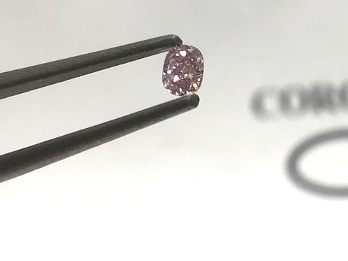 Fancy Light Pink 0,09 ct  oval diamond