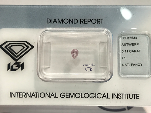 Fancy Pink 0,11 ct diamond