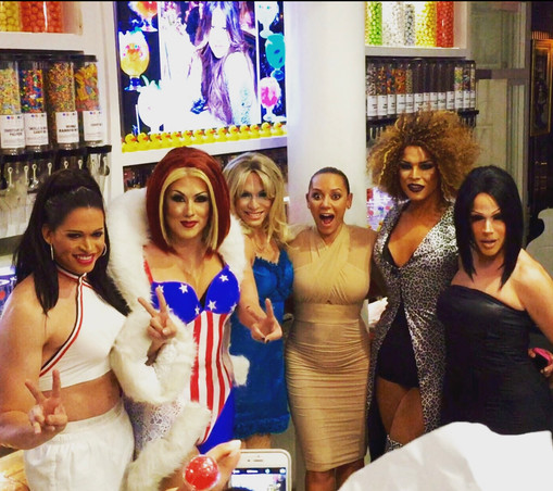 Appearing in Miami as Ginger Spice, with (real) Spice Girl Mel B