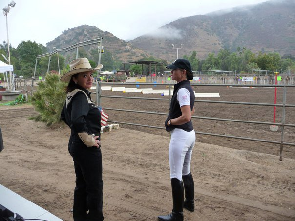Two horse show judges