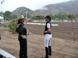 Two horse show judges
